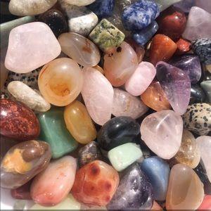 60pc tumbled Crystal gemstone bundle